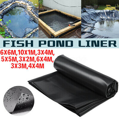 9.8ft-32.8ft Fish Pond Liner Garden Pool HDPE Membrane Reinforced Landscaping