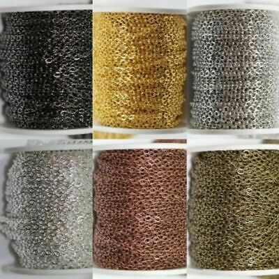 5/100M Cable Open Link Iron Metal Chain Jewelry Making Craft DIY 3x2MM Supply