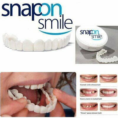 snap-on smile PERFECT DENTIERA DENTI RIUTILIZZABILE Comodi Flex Finto Denti uuu@