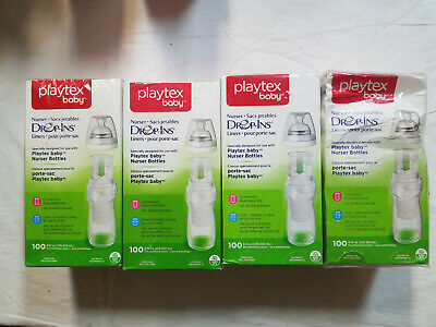 Playtex Baby Nurser Drop-Ins Liners 8-10 oz 100ct Lot of 4 (400 total)