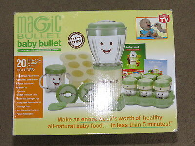 GREAT Baby Bullet baby food making kit + storage/use or can be additional parts