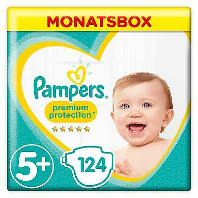 Pampers Premium Protection Windeln, Gr.5+ Junior Plus, 12-17kg, (1 x 124 )