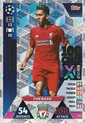 Match Attax Champions League 2018/19 Hundred 100 Club Firmino Liverpool