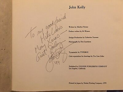 John Kelly. An artist's book. Published 1984, Collier. Signed, 1st edition.