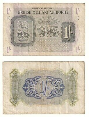 British Military Authority 1 Shilling note (1943) P.M2 - VF.