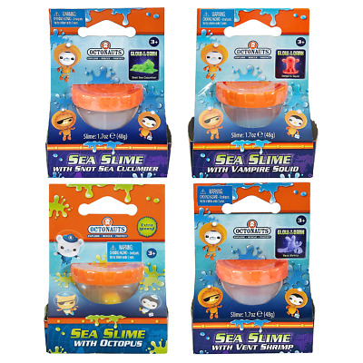 New Octonauts Sea Slime w/ Glow Squid Shrimp Octopus & Sea Cucumber Official