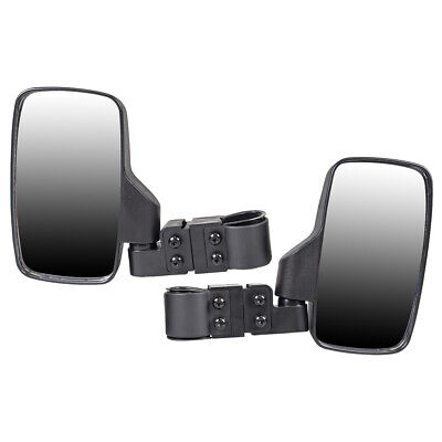 Black Side View Mirror Set UTV Offroad High Impact Break-Away Large Wide View