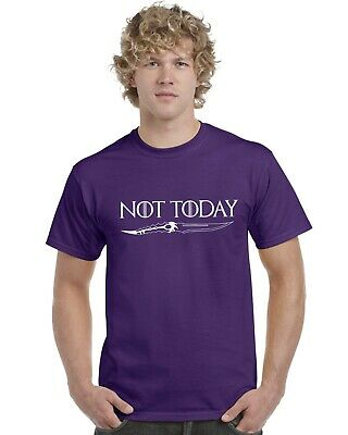 Not Today Arya Stark Game Of Thrones Adults T-Shirt Tee Top Sizes S-XXL