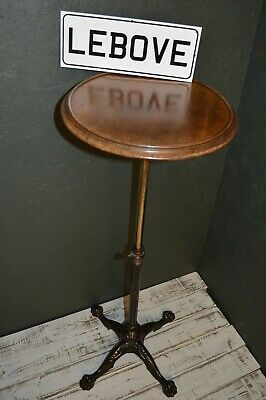 Antique Victorian Cast Iron & Brass Reading Table