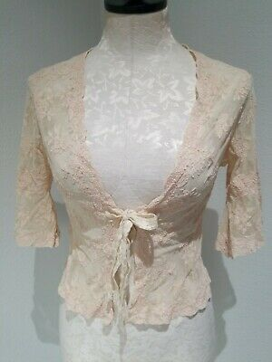 Rare Antique French Lace Cover, Delicate Vintage Shawl blouse top bell sleeves