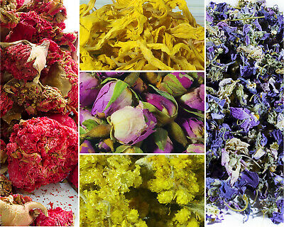 Dried Flowers, Dried Petals, 62 Types! Tea, Cake Decor, Coctail Garnishes Craft