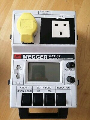 MEGGER PAT32 DUAL VOLTAGE PAT TESTER And Leads Fully Tested UK