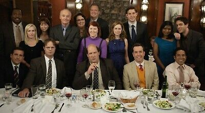 The Office Tv Show Full Cast At Dinner Table Special Party  Publicity Photo