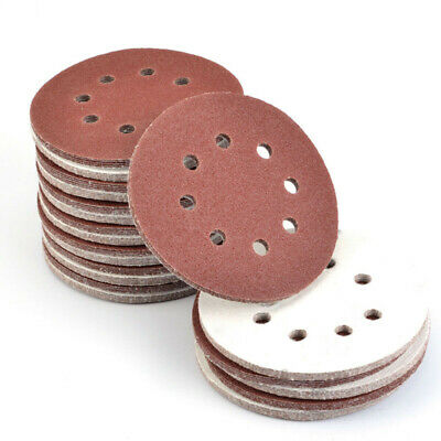 Sanding Disc 125mm 8 hole Pad 80 120 240 Grit Sandpaper 50pcs 10pcs Polishing