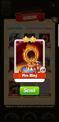 Coin Master Fire Ring Card