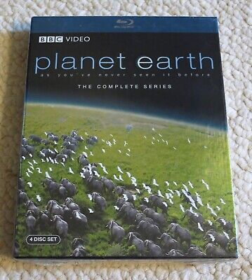 PLANET EARTH Complete Series (2007, Blu-ray, 4-Disc Set, BBC) NEW D Attenborough