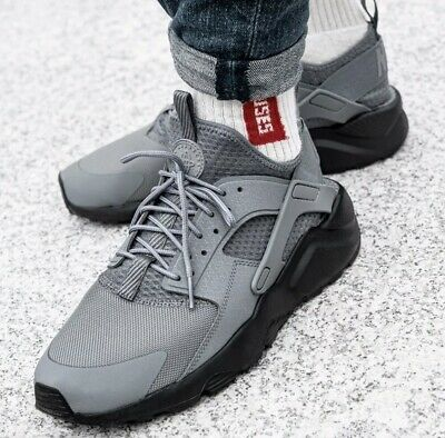 Details about 2016 GENUINE MENS NIKE AIR HUARACHE ULTRA RUN TRAINERS SIZE UK 7 BLACK GREY