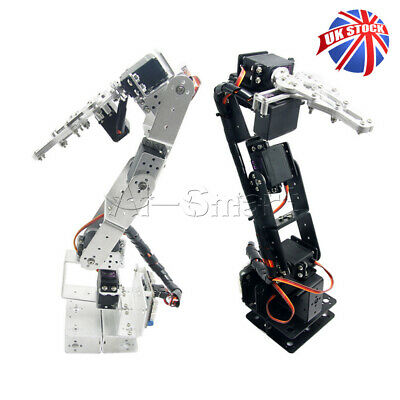Silver/Black 6DOF Aluminium Robot Arm Mechanical Robotic Clamp Claw For Arduino