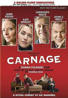 CARNAGE 2012 dvd Comedy JOHN C REILLY Jodie Foster KATE WINSLET