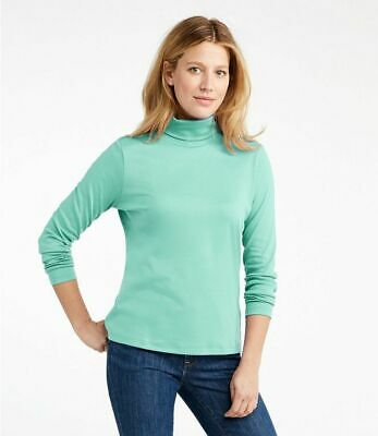 LLBean Womens Pima Turtleneck Many Colors To Choose From XL NEW W/Tags LQQK