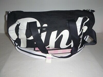 ea33bdb03a878a VICTORIA SECRET PINK Duffle Bag Black Lightweight New with Tags ...