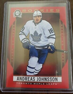 2018 19 Ud Opc Coast To Coast Red Rookies Andreas Johnsson #172