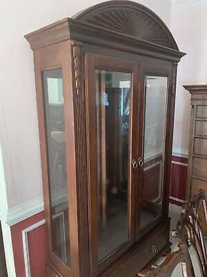 Ethan Allen British Classics Two Door Curio Cinnabar Buyer Pays Shipping