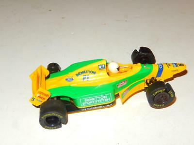 Scalextric -Hornby - Benetton Sportsystem Slot Car- Needs Tires - L202