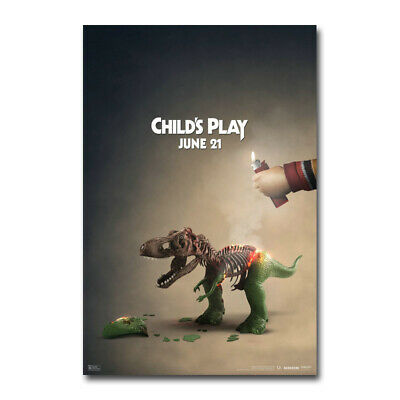 Child's Play Movie 2019 Chucky Horror Silk Canvas Film Poster Print 24x36 inch
