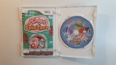 Kirby's Epic Yarn (Nintendo Wii, 2010) *** COMPLETE - CANADA FAST FREE SHIPPING