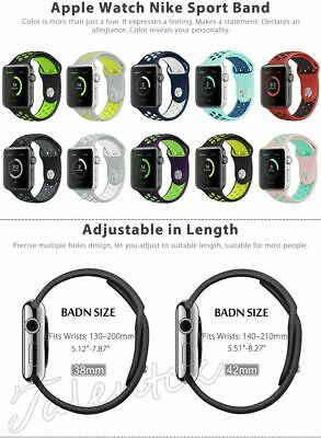 For Apple Watch 40/44 38/42 Replacement Silicone Wrist Bracelet Sport Band Strap