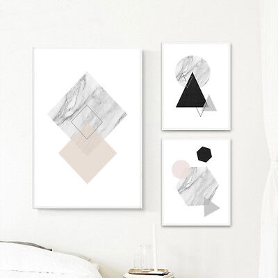 Marble Geometry Abstract Wall Art Canvas Poster Prints Decoration Pictures