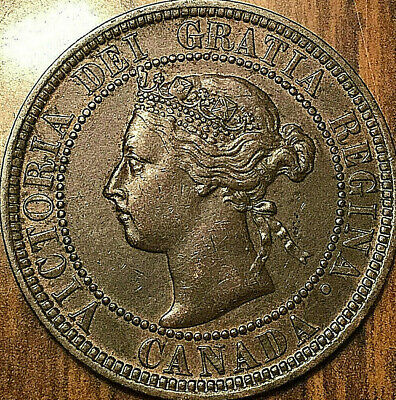 1900H CANADA LARGE CENT PENNY 1 CENT - Excellent example!