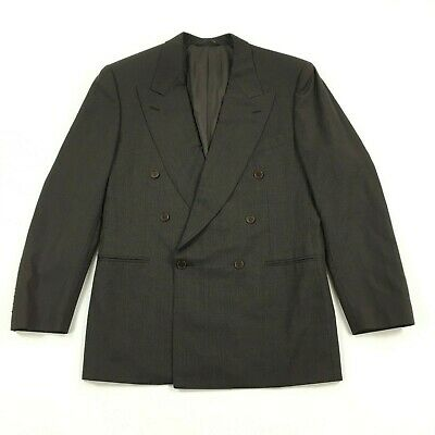 Canali Brown Double Breasted Blazer 100% Wool US 38R Made In Italy