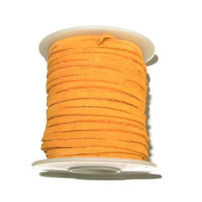"Sof-Suede Lace - 3/32"" x 50 Feet - Orange Peel"