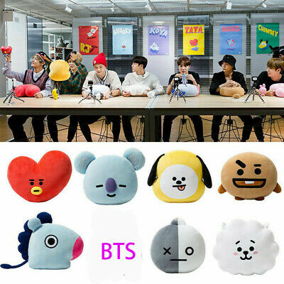 BTS BT21 TATA SHOOKY RJ Plush Toy SUGA COOKY Pillow Doll Sofa Cushion Doll T