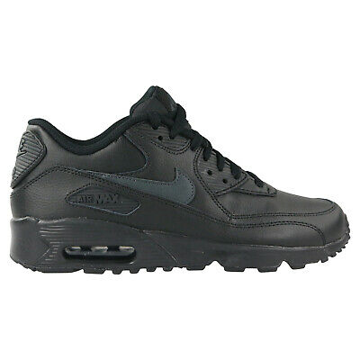 Nike Air Max 90 SE Leather (GS) Schuhe Sneaker Kinder Schwarz