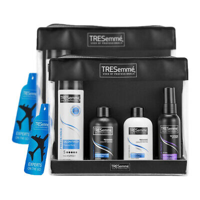 2 Tresemme Experts On The Go Travel Kit with Wash Bag (Travel Sized Essentials)