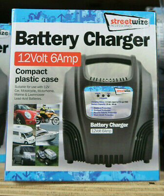 Streetwize Garage Workshop Compact Car Vehicle Battery Charger 12v 6A