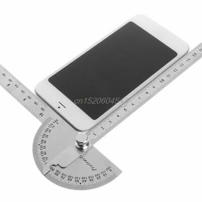 Stainless Steel Angle Ruler 180 Degree Protractor Finder Arm Measuring Tools