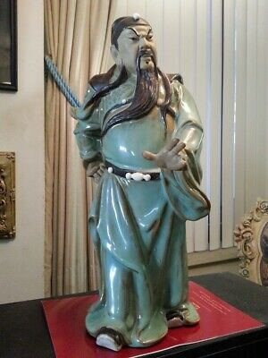 STRIKING PIECE !!!  chinese CLAY NOBLE [OR WARRIOR ] vintage, marked & numbered