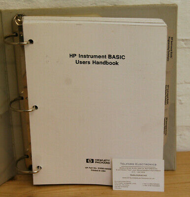 HP Instrument BASIC Users Handbook