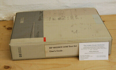 HP8922M/S GSM Test Set User's Guide