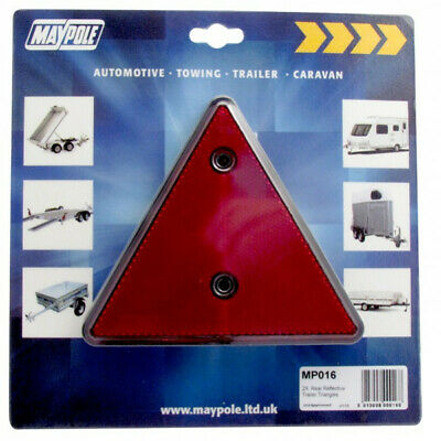 MAYPOLE Reflective Triangles - Red 016