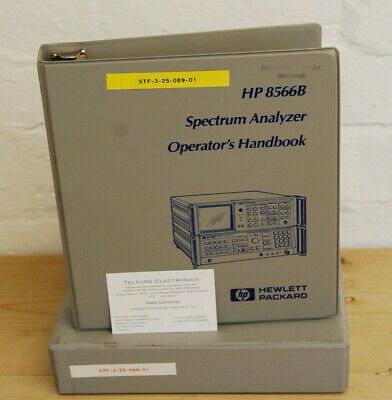 HP8566B Spectrum Analyzer Operators Handbook