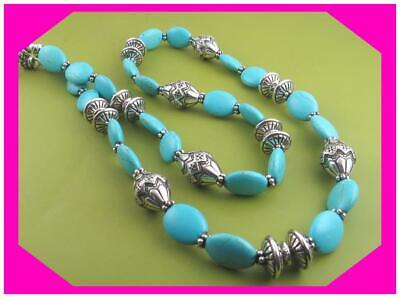 BRIGHTON SANTA FE Turquoise Blue Silver LONG Lovely Retired NECKLACE NWotag $98