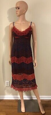 $295 Nsr Women/'S Pink V-Neck Floral-Lace Casual Sleeveless A-Line Midi Dress S
