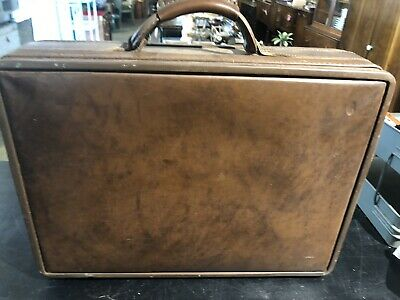 Vintage Hartmann Luggage Belted Leather Suitcase or Carry On SuitCase.