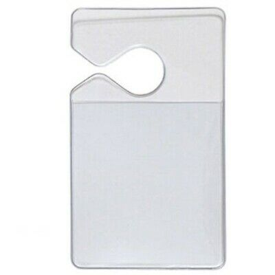 Clear Parking Permit Holder - Small Pass / Placard Hanger - Car Rear View Mirror