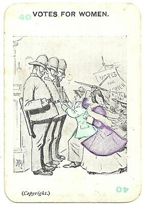 Orig. Vintage Votes For Women Playing Card Game Woman's Suffrage Panko Game Card